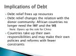 implications of debt