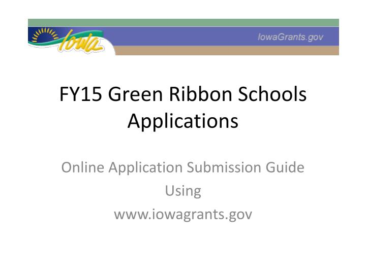 fy15 green ribbon schools applications n.