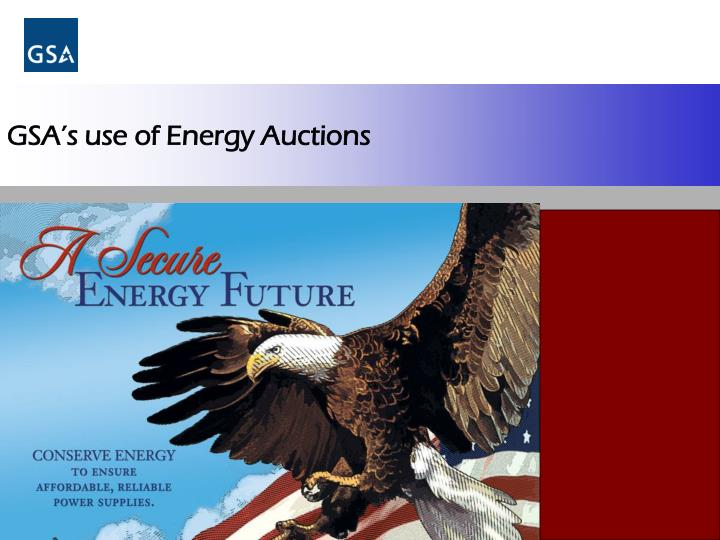 gsa s use of energy auctions n.