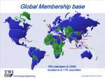 global membership base
