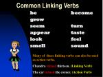 common linking verbs