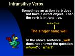 intransitive verbs