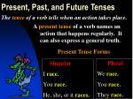 present past and future tenses