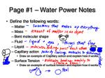 page 1 water power notes