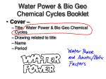 water power bio geo chemical cycles booklet