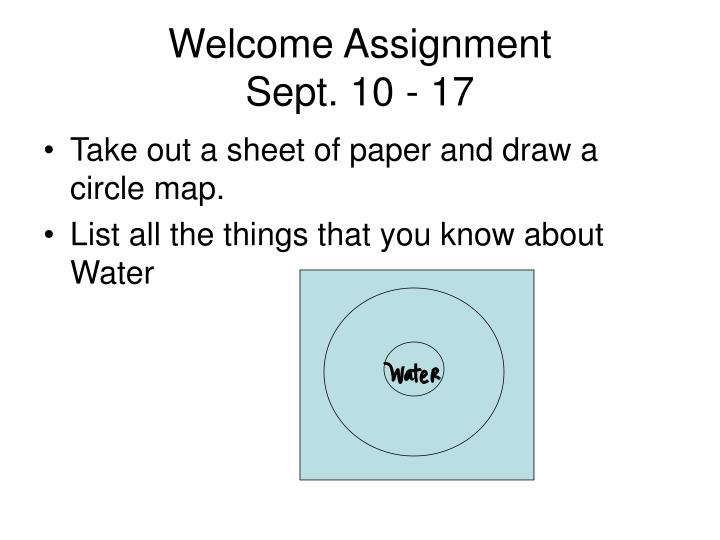 welcome assignment sept 10 17 n.