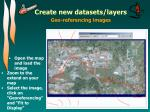 create new datasets layers3