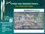 create new datasets layers4