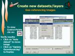 create new datasets layers5