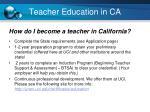teacher education in ca