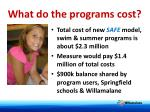 what do the programs cost