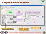 a kepler scientific workflow