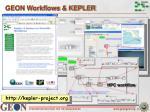 geon workflows kepler