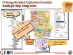 ontology enabled application example geologic map integration