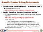 scientific problem solving environments