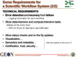 some requirements for a scientific workflow system 2 2