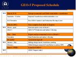 geo 5 proposed schedule