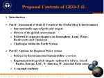 proposed contents of geo 5 i