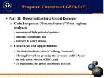 proposed contents of geo 5 ii