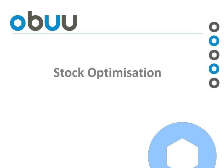 stock optimisation n.
