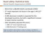 road safety statistical data world health organization 2004