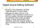 digital sound editing software