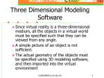 three dimensional modeling software