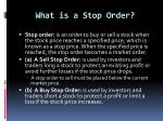what is a stop order