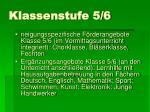 klassenstufe 5 6