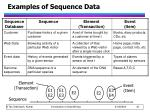 examples of sequence data