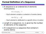 formal definition of a sequence