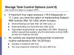 storage tank control options cont d