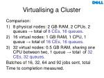 virtualising a cluster