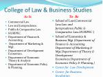 college of law business studies