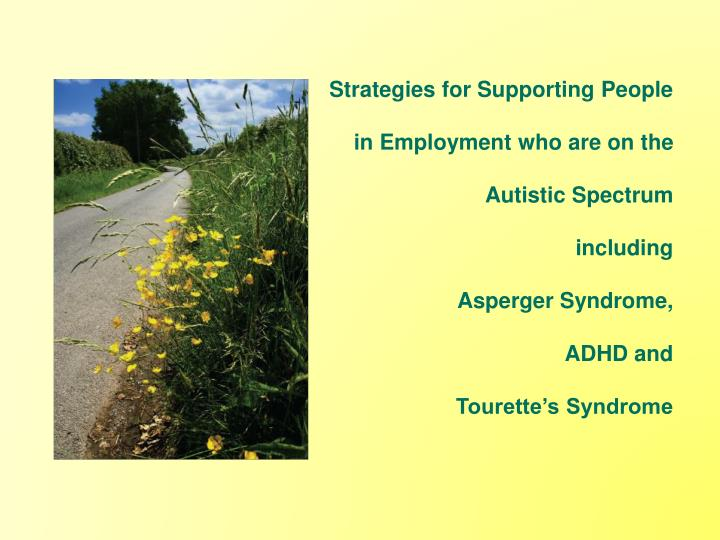 Strategies for Supporting People