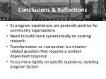 conclusions reflections