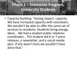 phase 1 statewide program university students