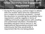 urban university civic engagement requirement