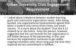 urban university civic engagement requirement2