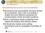strengthening governance accountability