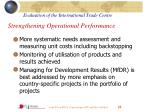 strengthening operational performance