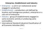 enterprise establishment and industry