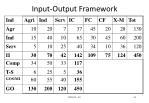 input output framework