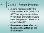 ch 5 1 protein synthesis5