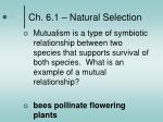 ch 6 1 natural selection2