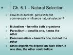 ch 6 1 natural selection4