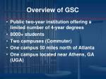 overview of gsc