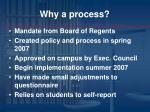 why a process