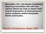 equity initiatives meet lsu