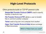 high level protocols